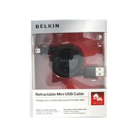 Belkin Belkin Usb-A, Mini-B Retractable F3U156Cw2.6-Mob Usb-A, Mini