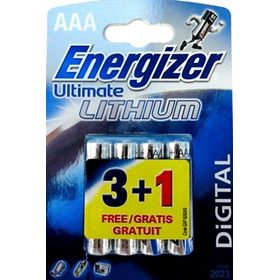 Energizer Energizer Ultimate Lithium Aaа  Dfb 3+1  Aaa Aaa, 3+1